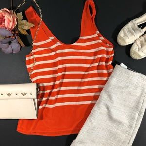 Joie Rain B Silk Striped Tank Top